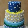 fun-baby-shower-cake-blue-yellow-green-427x800
