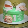 mint-green-hat-box-cake-with-giant-pink-bow-baby-first-birthday-sweet-cheeks