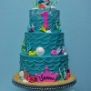 undersea Little Mermaid Cake