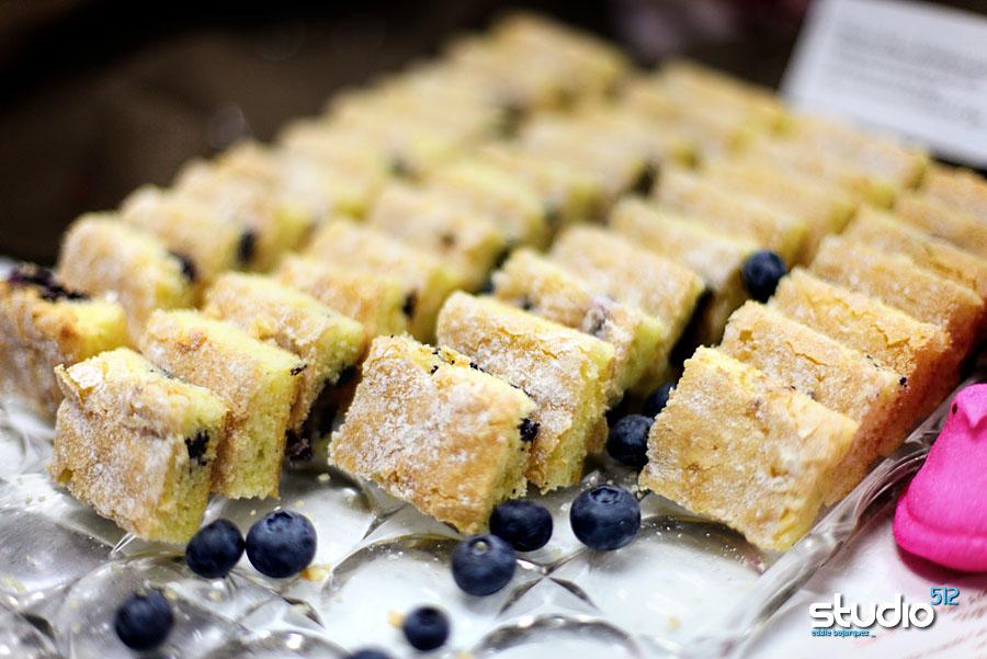 Mini blueberry lemon tea cakes