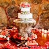 burlap-ribbon-wedding-cake-on-tree-stump-sweet-cheeks-for-jennifer-gustavo-at-mt-woodson-true-photo-800x533