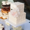 small-square-wedding-cake-textured-spackled-butter-cream