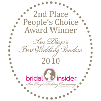 2nd Place - Best San Diego Wedding Vendor for Cakes