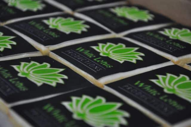 White Lotus logo cookies, Sweet Cheeks (1)