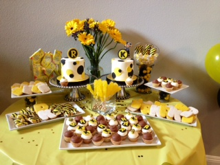 Bumble Bee 1st Birthday Party Sweet Cheeks Baking Company