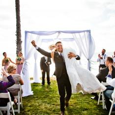 Captain Jodie Morgan whisks away bride Kelly