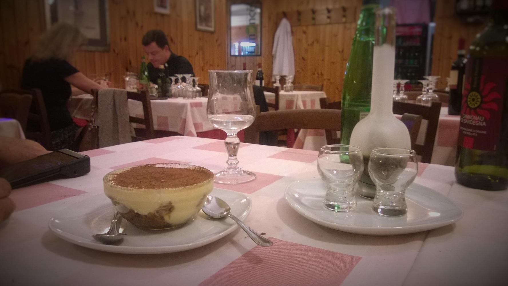 Tiramisu at Sor'Eva Restaurant, our favorite local spot in Rome.