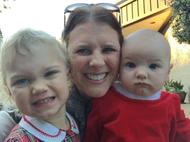 With her two gorgeous munchables