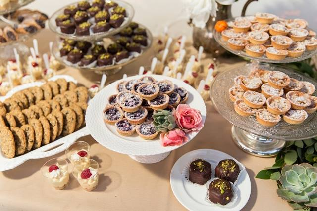 Mini bites displayed at Lomas Santa Fe CC, Photo by Cavin Elizabeth Photography