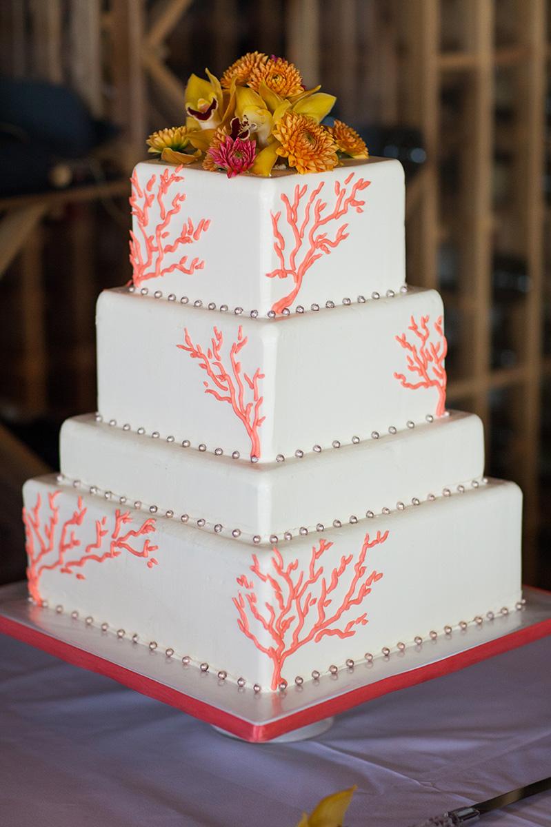 coral-wedding-cake-sweet-cheeks-for-cunningham-wedding-defalco-photo-2