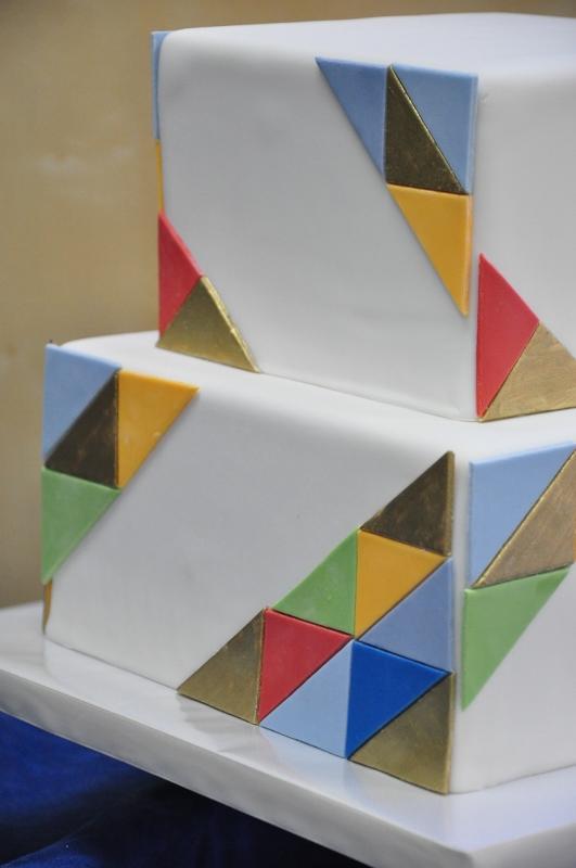 geometric-patchwork, modern wedding cake-5-531x800
