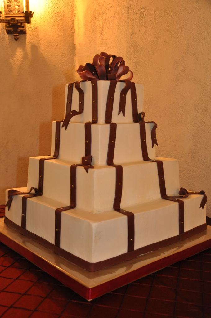 chocolate ribbons, vertical