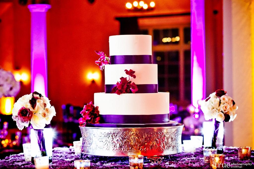 purple-ribbon-wedding-cake-el-cortez-for-ashley-bryan-true-photography-1024x683