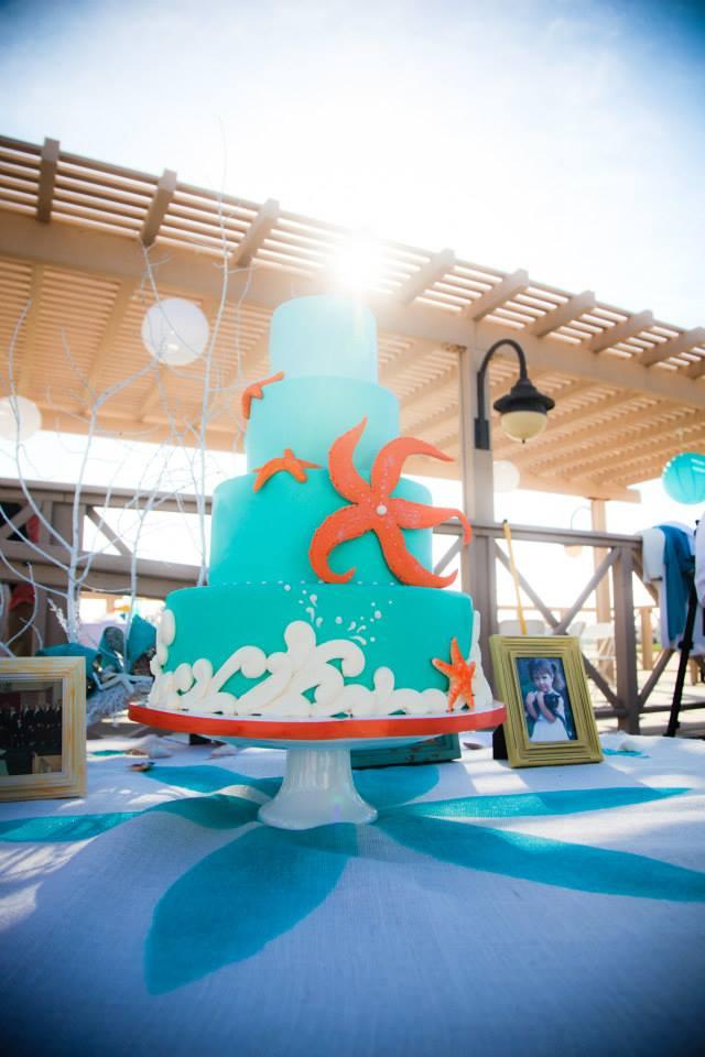 starfish aqua ocean cake