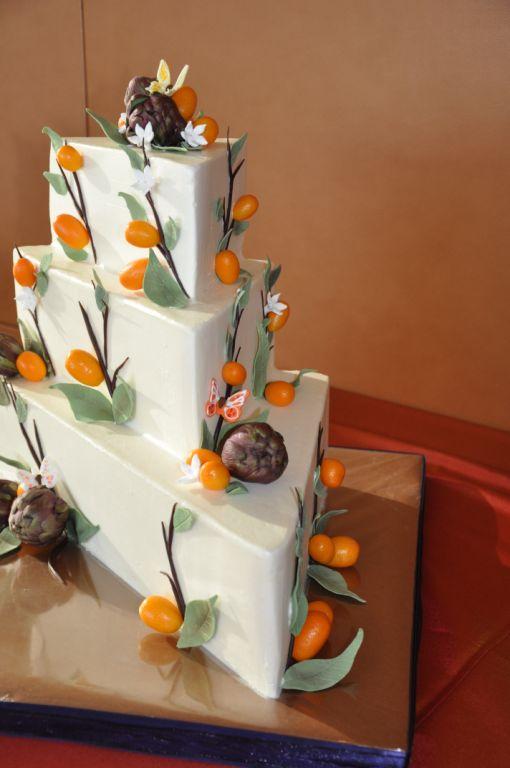 triangle cake stack