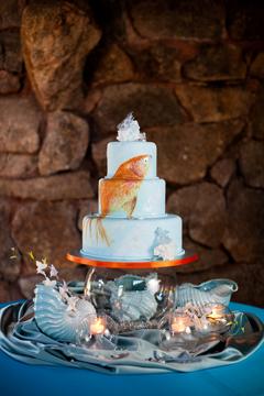 zelo-photography painted goldfish cake