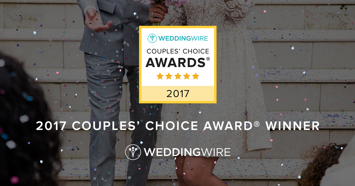 Sweet Cheeks Wins Another Wedding Wire Couples' Choice Award 2017
