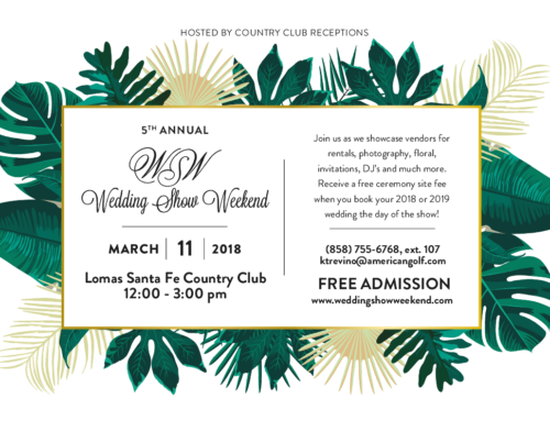 Preferred Vendor for 2018 Wedding Show Weekend!